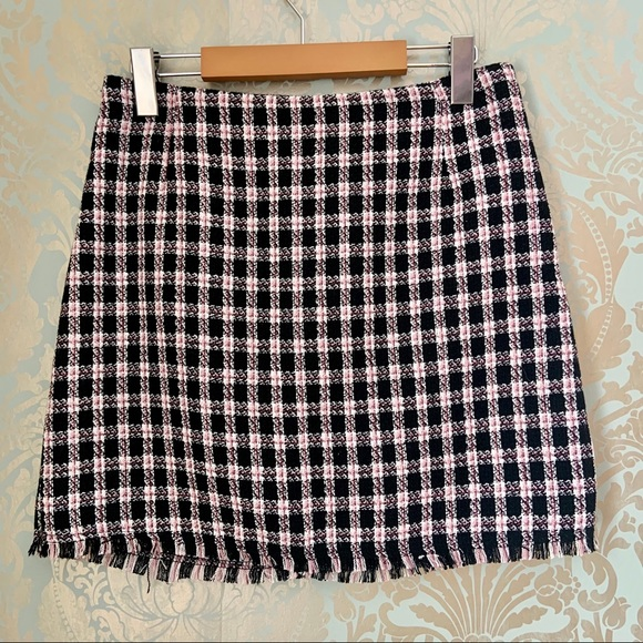 NWT H&M Mini Skirt Pink and Black Knit Clueless